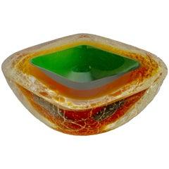 Stunning Alfredo Barbini Acid-Etched Murano Corroso Bowl