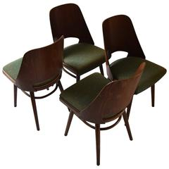 Set of Four Thonet Dining Chairs