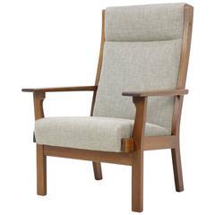 Vintage GE181A High Back Easy Chair by Hans Wegner for GETAMA