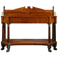 Very Fine Federal Carved Mahogany Sideboard