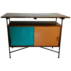 Mid Century Modern Sideboard or Cocktail Bar by Arthur Umanoff for Raymor, 1950s