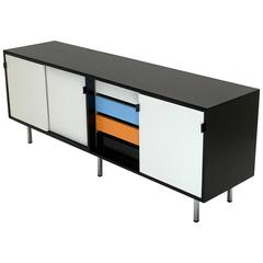 Florence Knoll Credenza with Dynamic Color Scheme in Lacquer