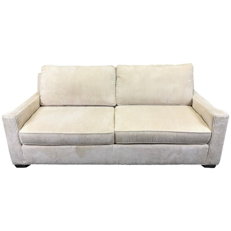 Corduroy Sofa In The Style Of Jean Michel Frank For Sale At 1stdibs
