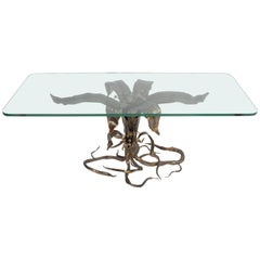Bertaolami Organic Form Faux Bronze Coffee Table, Italy