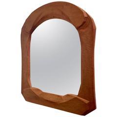 Rare Sculpted Wooden Mirror Possibly Rudolf Steiner