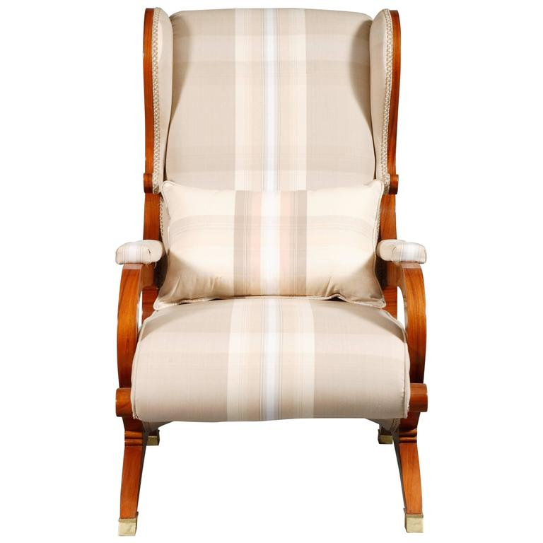 White Armchair made of Rosewood in Biedermeier Style  For Sale