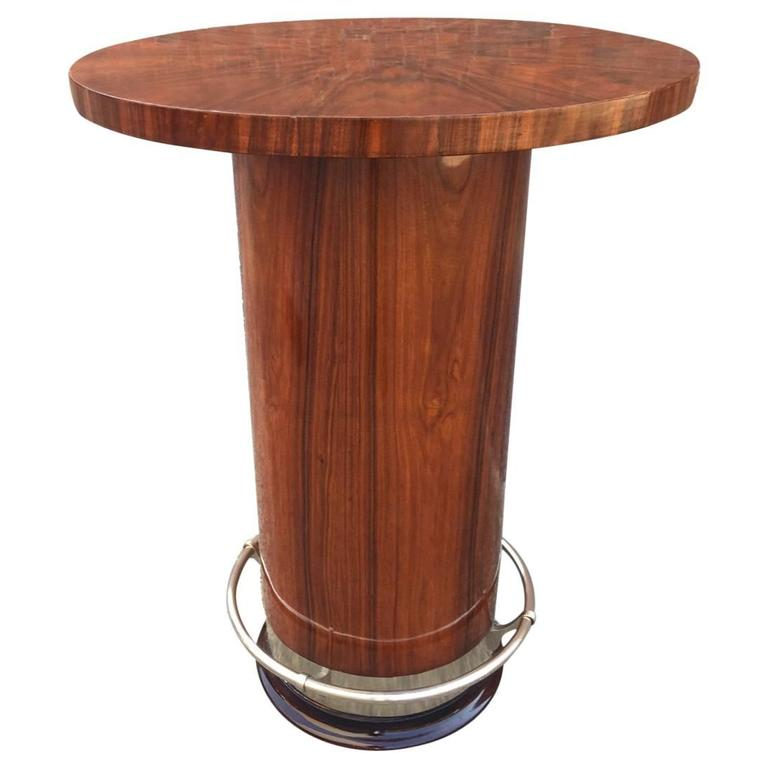 Bar Table And Chairs For Sale: Art Deco High Gueridon Or Bar Table In Rosewood, Circa