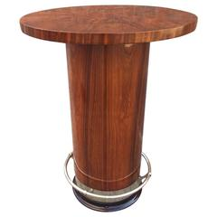 Art Deco High Gueridon or Bar Table in Rosewood, circa 1960