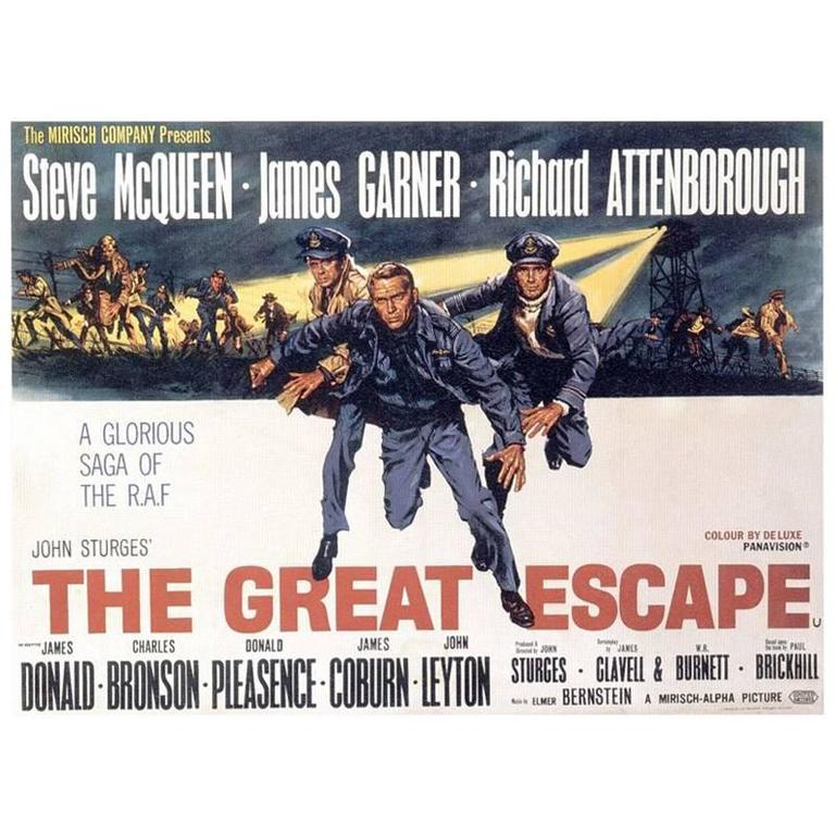 the great escape film poster 1963 for sale at 1stdibs