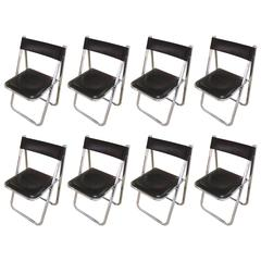 Eight Italian Tamara Folding Chairs
