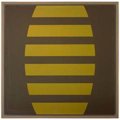 """Brown-Yellow"" 1963 by Marcia Hafif"