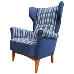 Danish Modern High-Back Lounge Chair for Fritz Hansen