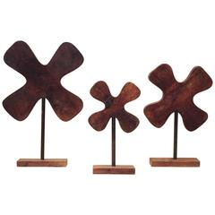 1960s Group of Three Wooden Profile Moulds