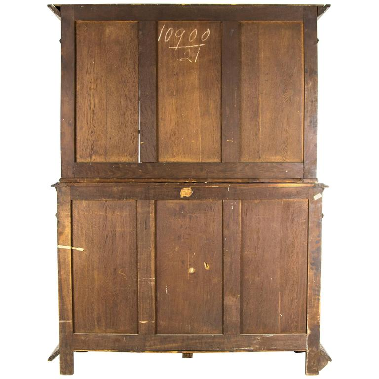 Solid Walnut Buffet ~ Antique french hand carved solid walnut buffet sideboard