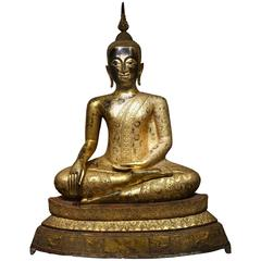 Impressive Bronze Buddha Statue in Rattanakosin Style, Late 19th Century