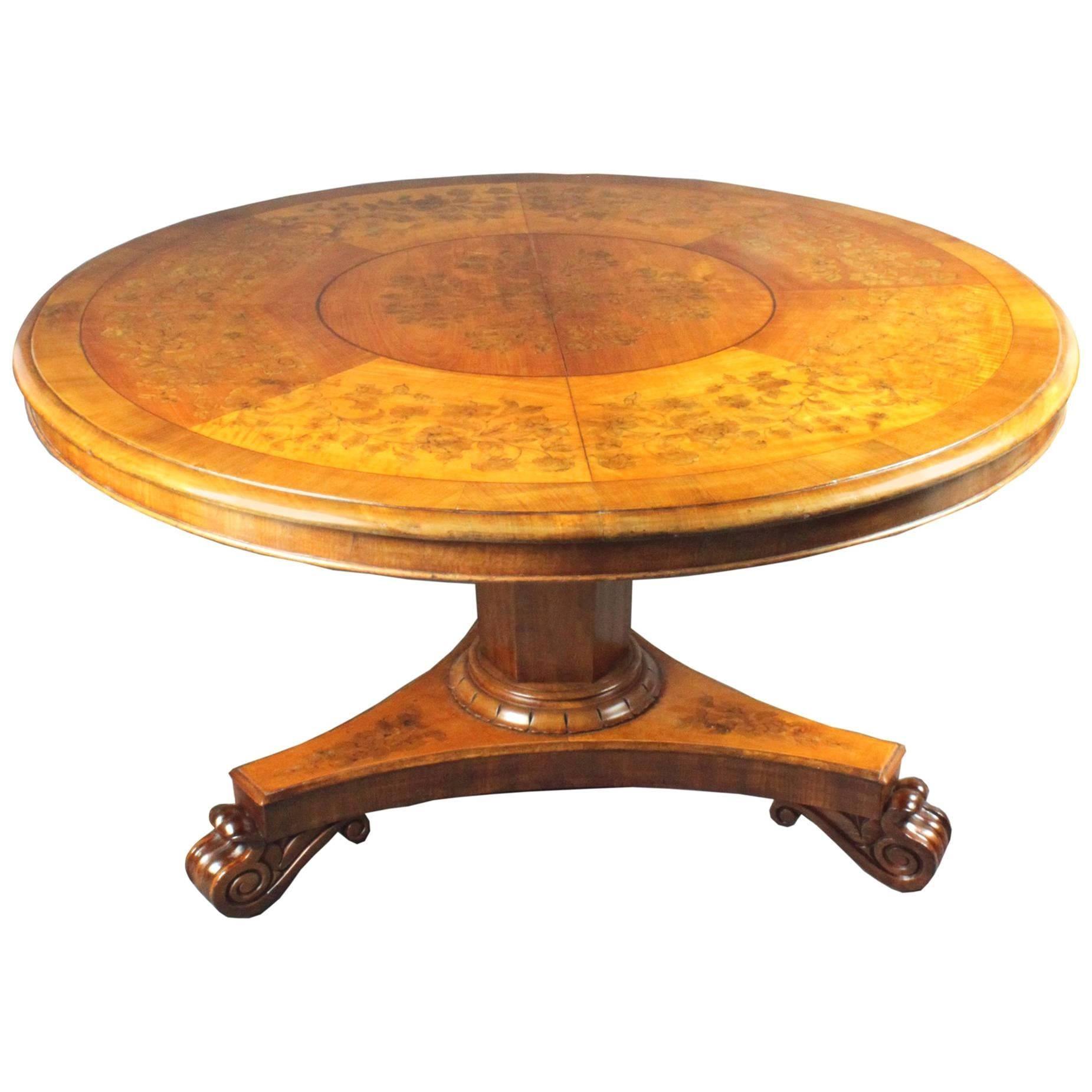 Antique Satinwood Marquetry Centre Table
