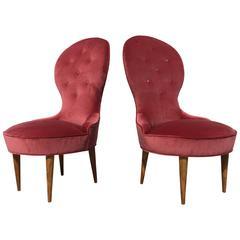 Petite Scandinavian Lounge Chairs, 1950s