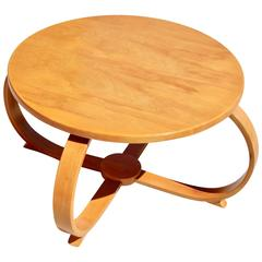 Stunning Bentwood Machine Age Streamline Table by Thonet