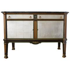 Hollywood Regency Silver Leaf Cabinet by David Zork