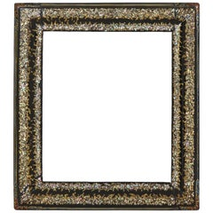 French Papier Mâché Black, Gilt and Mother-of-Pearl Frame