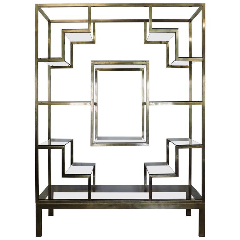 romeo rega mid century italian modern brass and glass. Black Bedroom Furniture Sets. Home Design Ideas