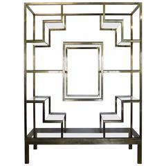 mid century modern five tier faux bamboo etagere shelving. Black Bedroom Furniture Sets. Home Design Ideas