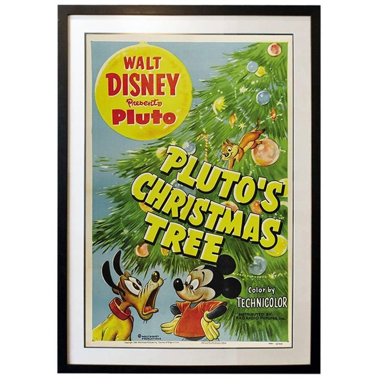"""""""Pluto's Christmas Tree"""" Film Poster, 1952 For Sale"""