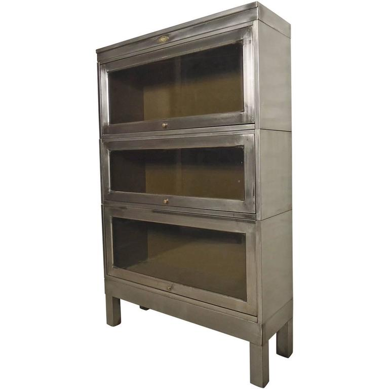 Steel Barrister Bookcase: Striking Metal Barrister Bookcase For Sale At 1stdibs