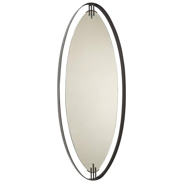 Stunning Oval Mirror by Santambrogio & De Berti