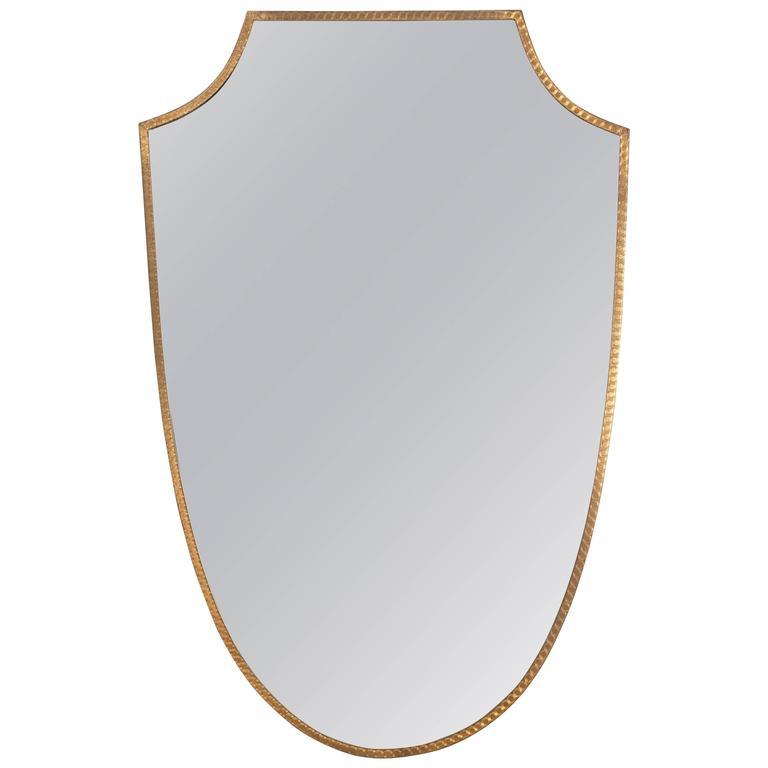 Italian Brass Frame Wall Mirror, circa 1950