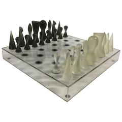 Acrylic Black and White Chess Set by Karim Rashid