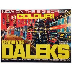 """""""Dr. Who And The Daleks"""" Film Poster, 1965"""