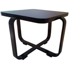 Rectangular Bentwood Coffee Table in Art-Deco