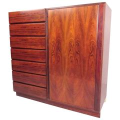 Scandinavian Modern Rosewood Gentleman's Chest