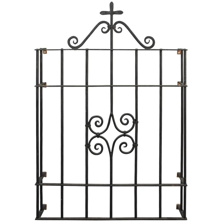 1920s Wrought Iron Window Grill At 1stdibs