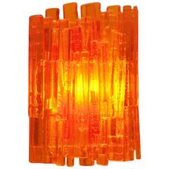 Wall Lamp in Orange by Claus Bolby for Cebo Industri, Denmark, 1960s