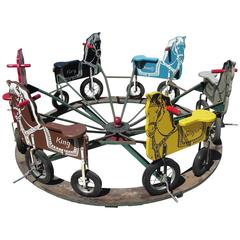Children's Carnival Painted Pedal Horse Carousel