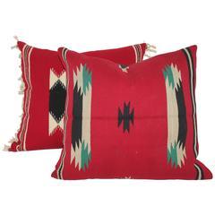 Pair of German Town Indian Weaving Pillows