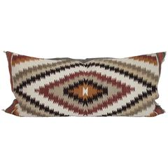 Fantastic Geometric Navajo Weaving Bolster Pillow
