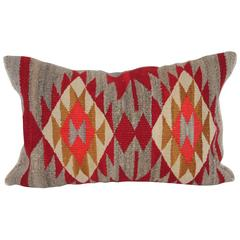 Navajo Geometric Eye Dazzler Indian Weaving Pillow