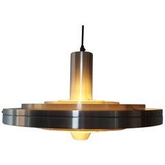 Sophus Frandsen Aluminium Fibonacci Pendant Light for Fog & Mørup Denmark, 1963