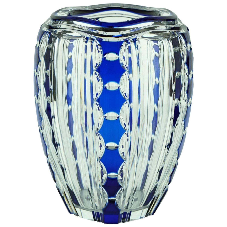 Val st lambert furniture 107 for sale at 1stdibs art deco val saint lambert blue overlay pietro crystal vase by joseph simon reviewsmspy