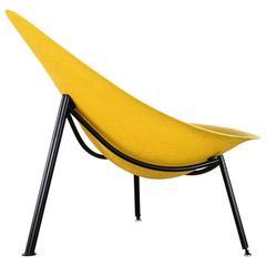 Midcentury Fiberglass Easy Chair by Ed Mérat, France, Tripod Outdoor