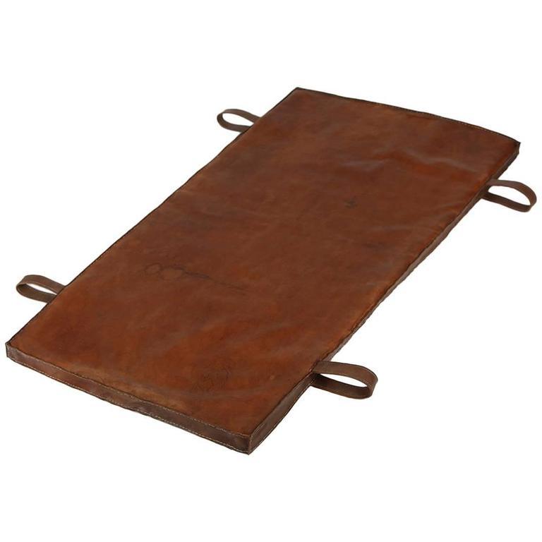 Vintage Leather Gymnastics Mat Nr.3, 1940s 1