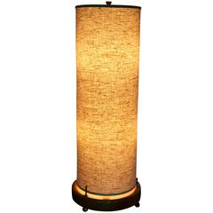 Mid-Century Modern Large Tubular Table Lamp in the Style of Gerald Thurston