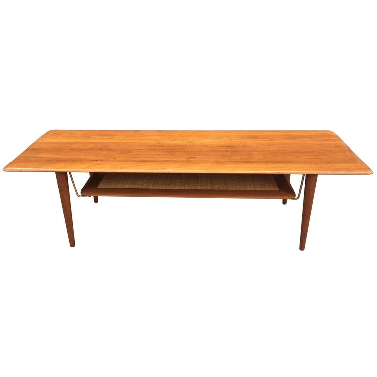 Peter Hvidt Solid Teak Coffee or Cocktail Table for France & Sons