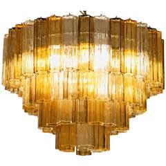 Mid-Century Murano Tronchi Chandelier, Toni Zuccheri for Venini attribution, 80s