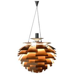 Henningsen Copper Artichoke Lamp