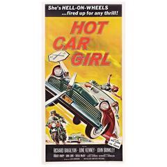 """Hot Car Girl"" Film Poster, 1958"