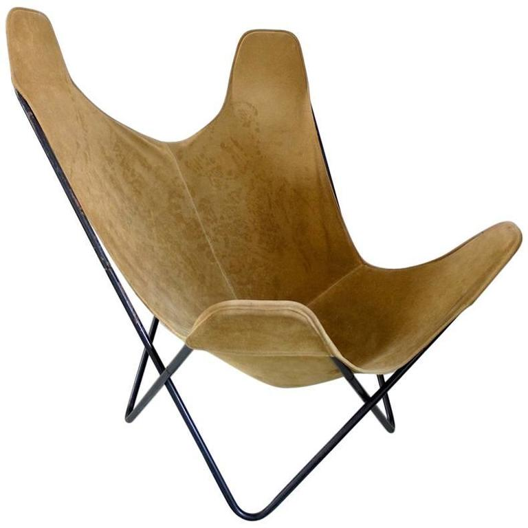 butterfly chair by jorge ferrari hardoy for knoll at 1stdibs. Black Bedroom Furniture Sets. Home Design Ideas